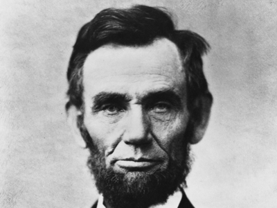 Abraham Lincoln head on shoulders