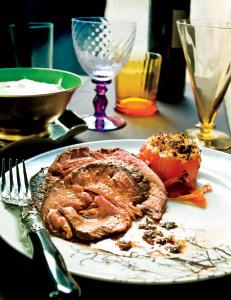 holiday roast beef with mustard-horseradish sauce