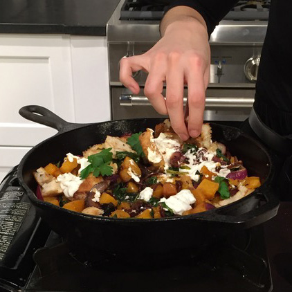 Shared Plates: Butternut Squash Skillet with Goat Cheese Recipe