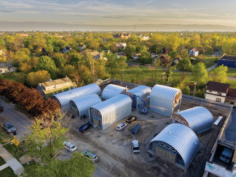 Detroit Gets a Village of Quonset Huts