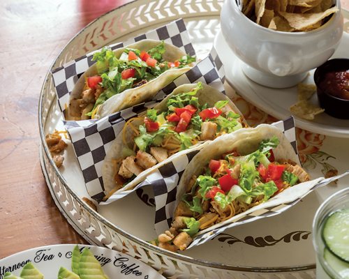 This Grosse Pointe Cafe Pairs Street Tacos with Unexpectedly Feminine Decor