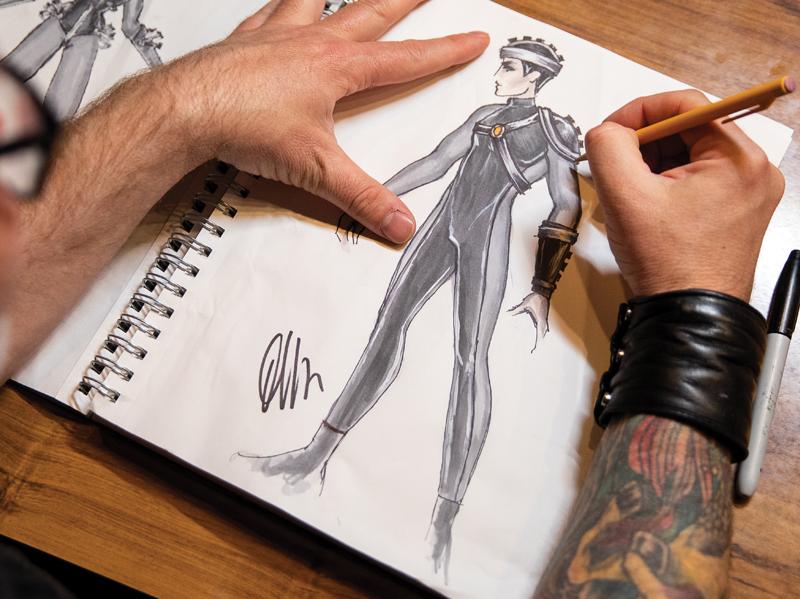 D2M costume sketch
