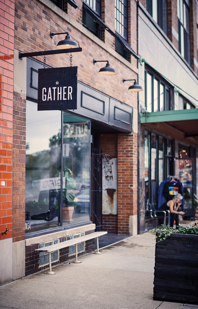 Curbside view of Gather