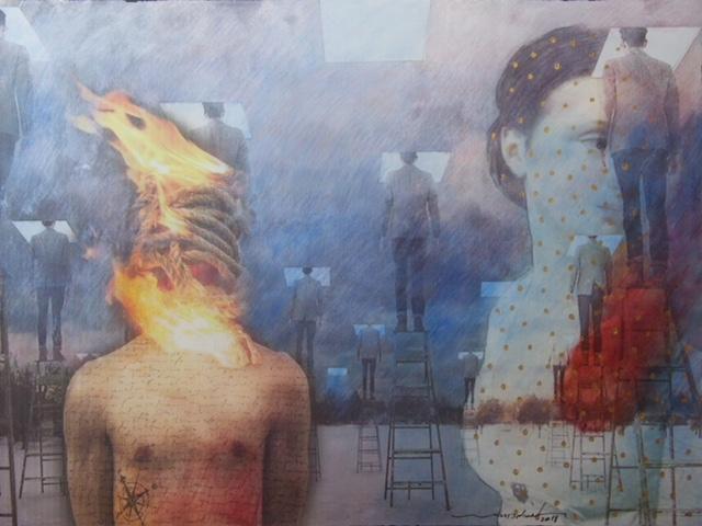 Burning Bodies (2018) by Wael Darweish
