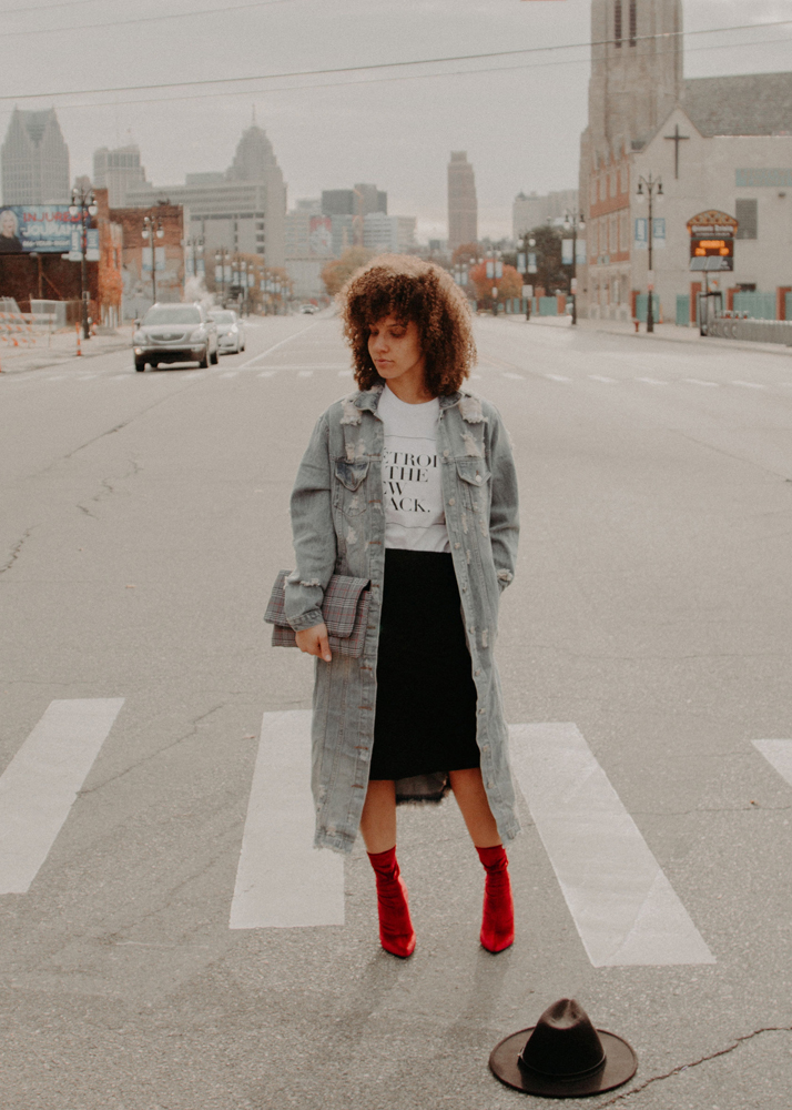 Camelle pictured at Gratiot Avenue by Eastern Market