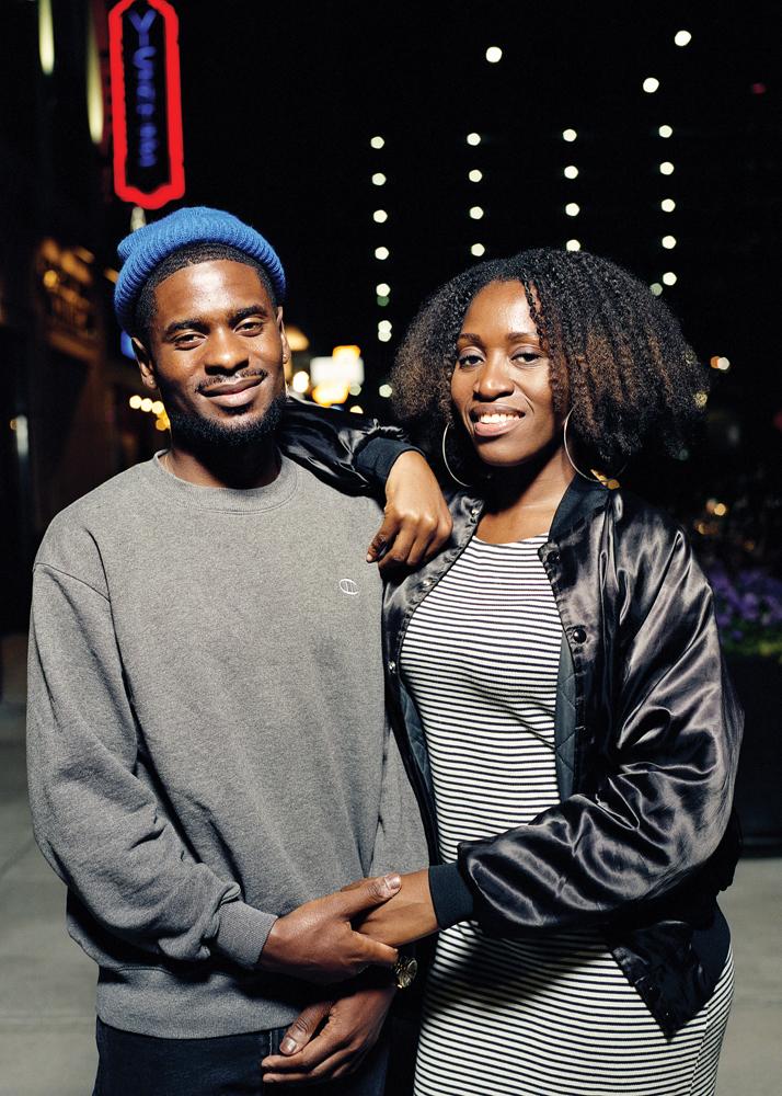 James Johnson (left) and Gaelle Blounga