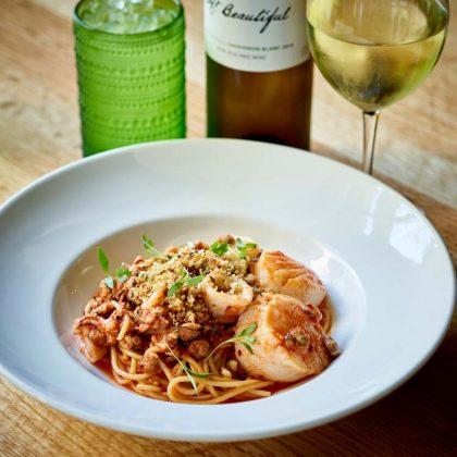 Hazel Ravines & Downtown seafood pasta