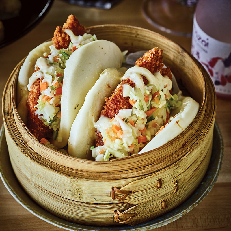 Crispy Chicken Bao Buns