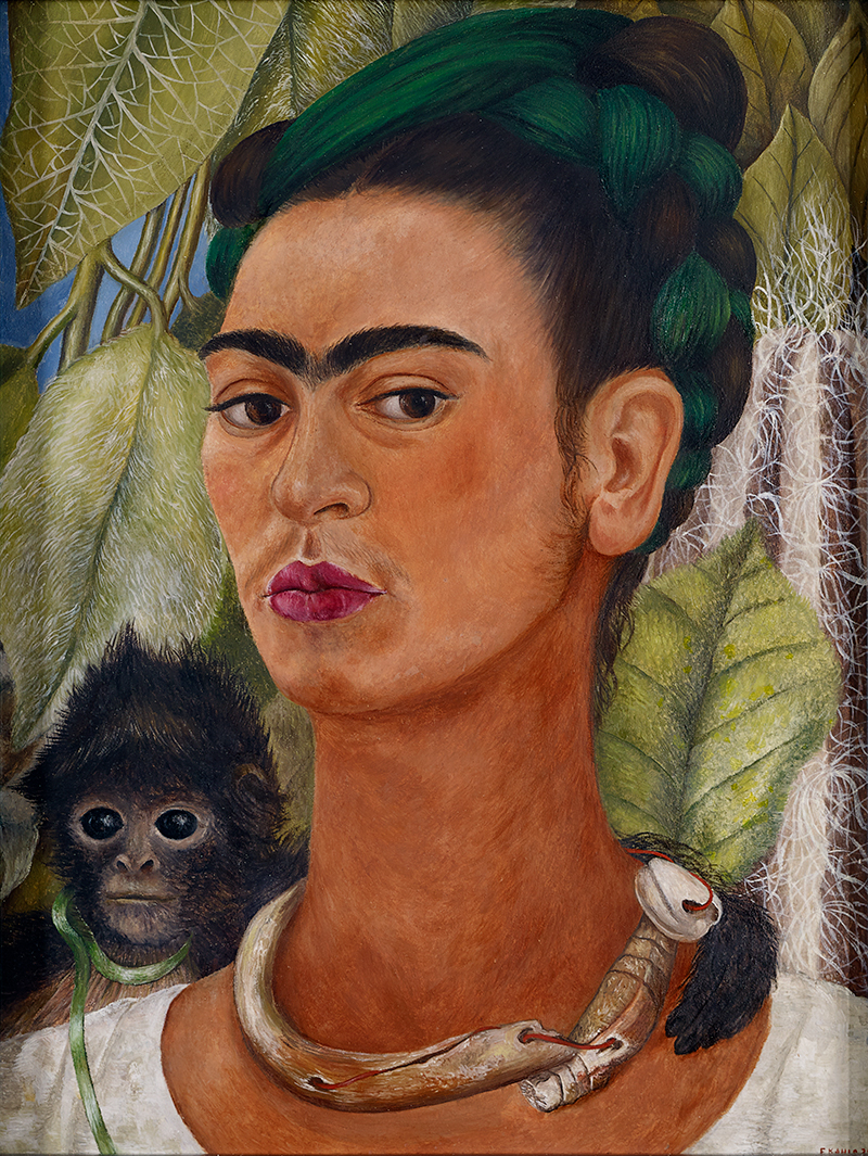 self-portrait with monkey