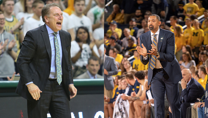 Tom Izzo and Juwan Howard