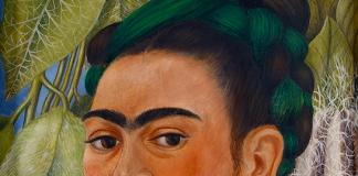 frida kahlo - self portrait with monkey