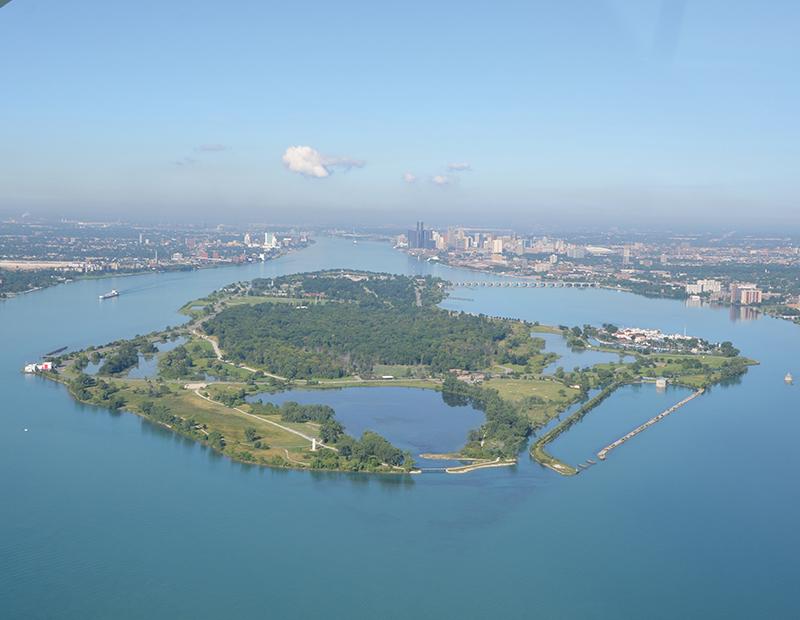Belle Isle aerial