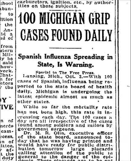 spanish flu michigan 2