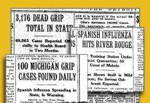 spanish flu michigan timeline