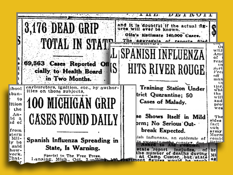 spanish flu michigan timeline