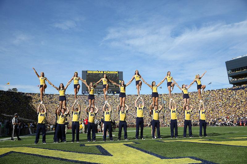 university of michigan cheerleading fitness tips
