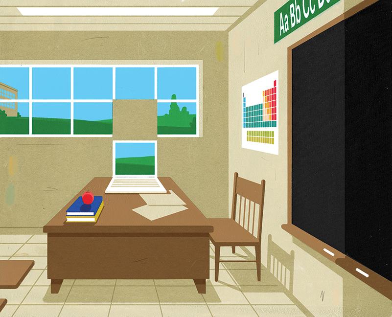 teachers teaching in a pandemic