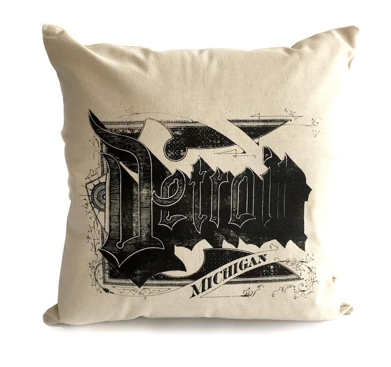 throw pillows detroit