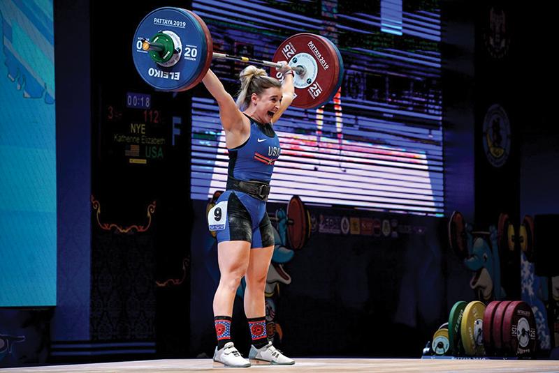 Kate Nye weightlifting olympics