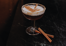 chai-infused cocktail