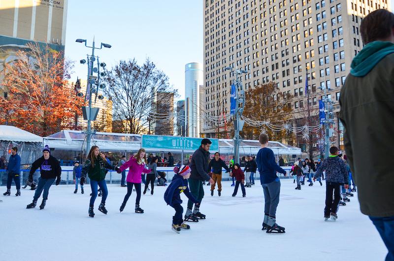 ice skating - campus martius