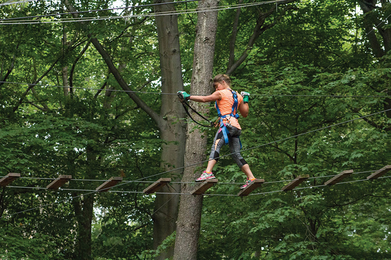 Camp Dearborn - zip lining