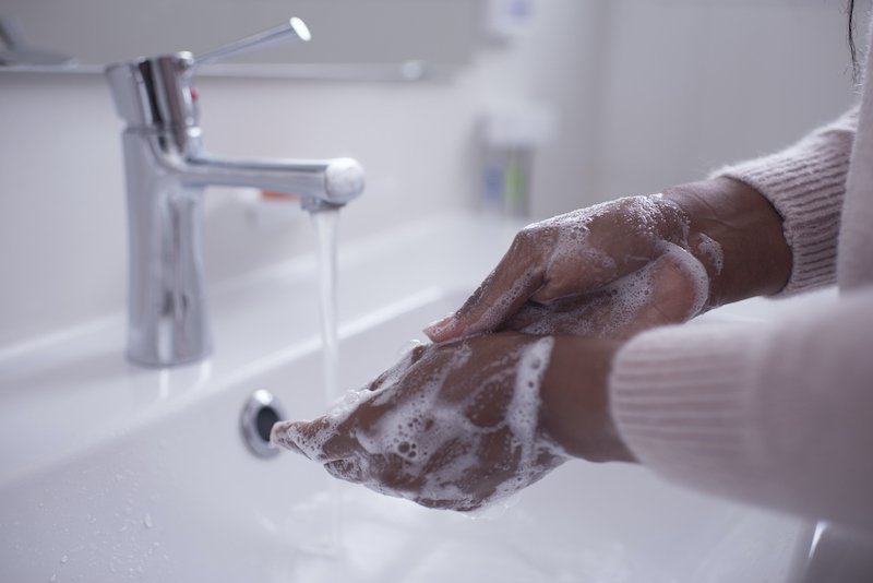 washing hands - health practices