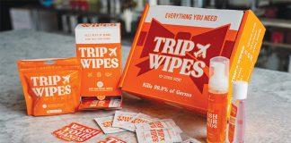 trip wipes - travel essentials