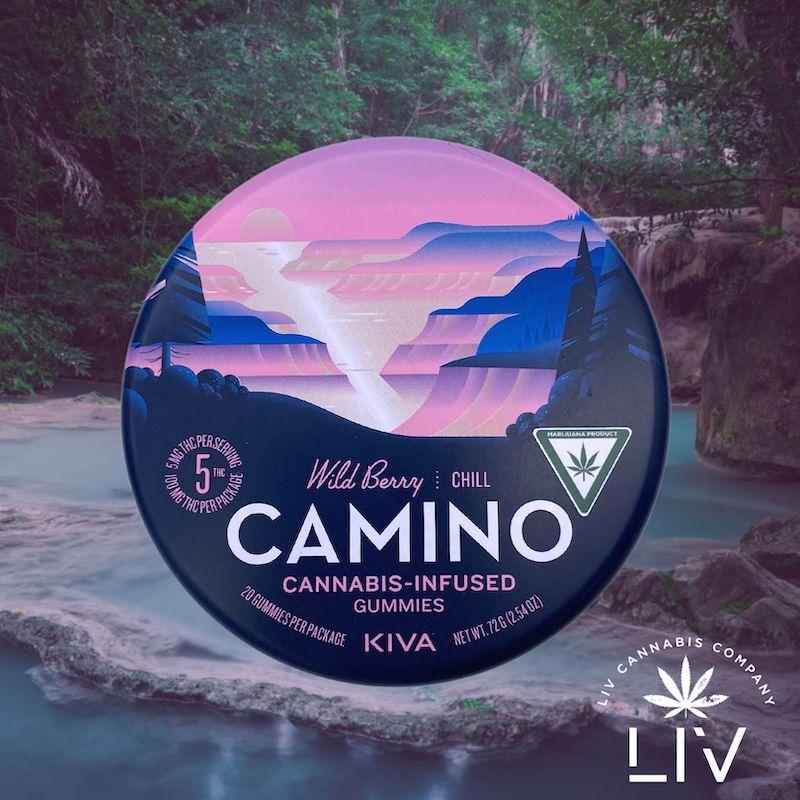 Kiva Camino Wild Berry Indica Gummies