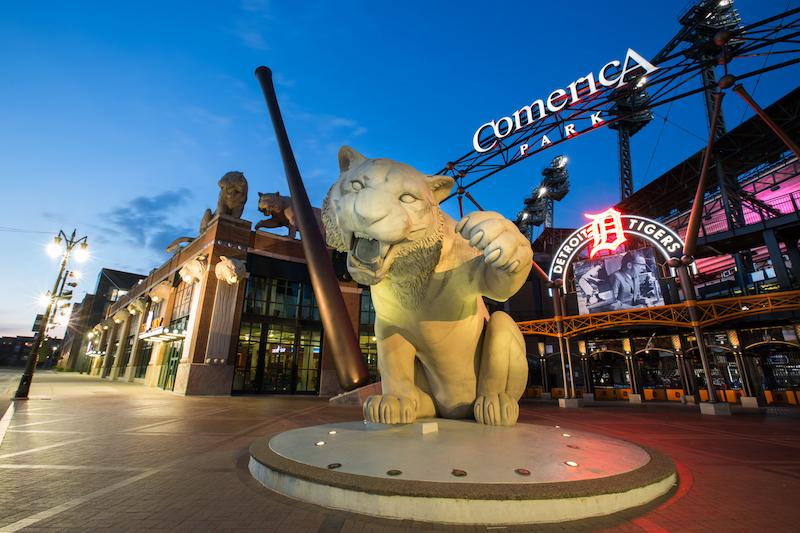 detroit tigers - Comerica Park in Detroit, Michigan