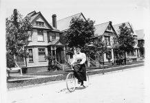 Bicycling circa 1895