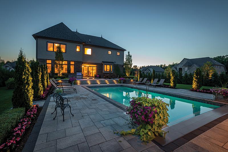 pool backyard - installing a pool