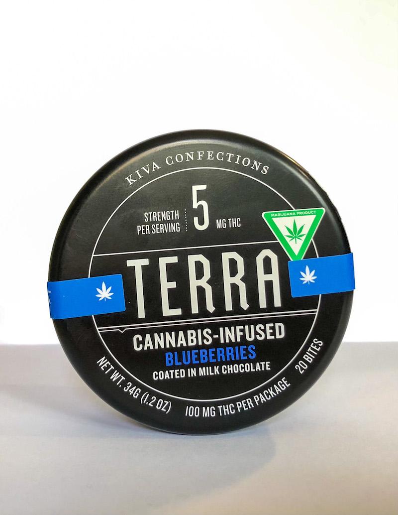terra cannabis-infused blueberries