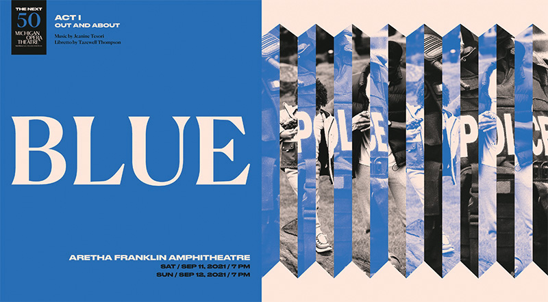 blue - new opera - aretha franklin amphitheatre