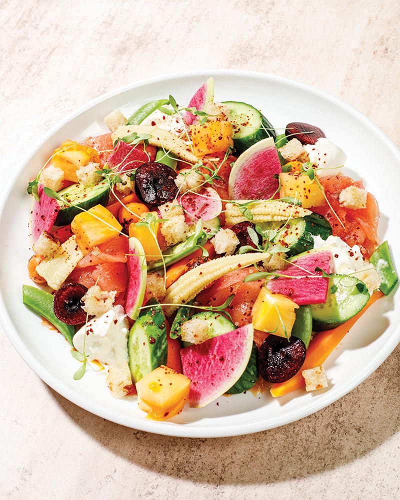 Sava's Smoked Salmon Summer Salad